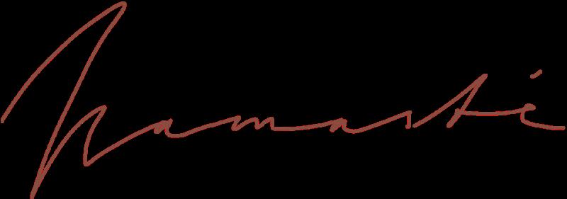 tiefgeist yoga leipzig - namaste handschrift logo
